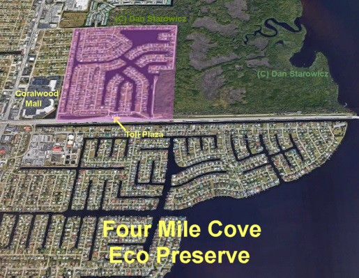 Four mile cove Eco Preserve neighborhood in Cape Coral Florida