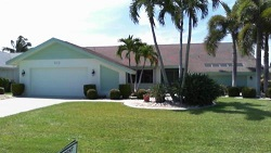 Example of a Cape Coral Rose Garden Gulf access waterfront home